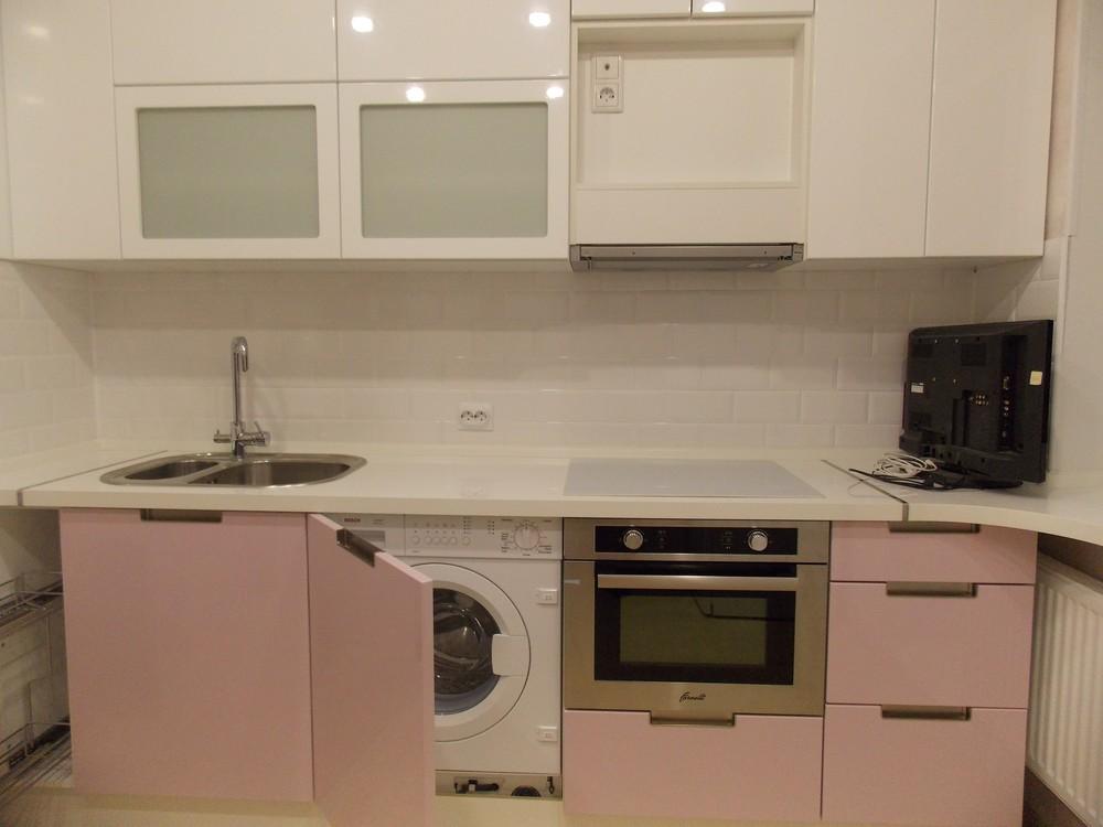 Белый кухонный гарнитур-Кухня МДФ в ПВХ «Модель 193»-фото6