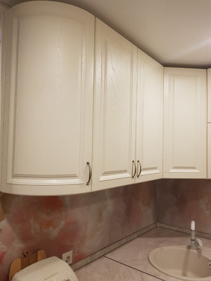 Белый кухонный гарнитур-Кухня МДФ в ПВХ «Модель 70»-фото4