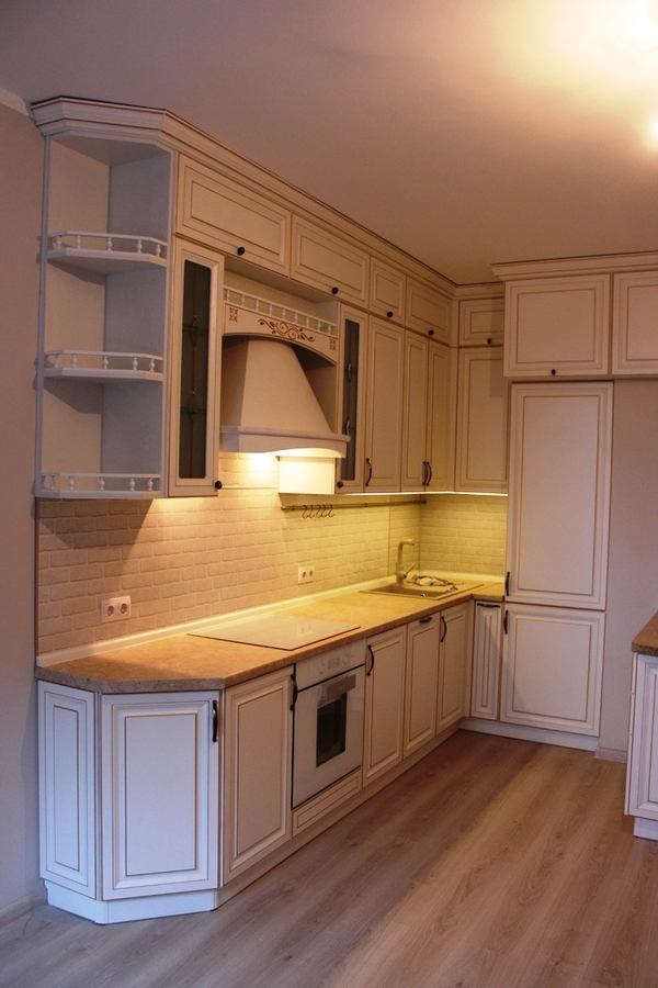 Белый кухонный гарнитур-Кухня МДФ в ПВХ «Модель 39»-фото2
