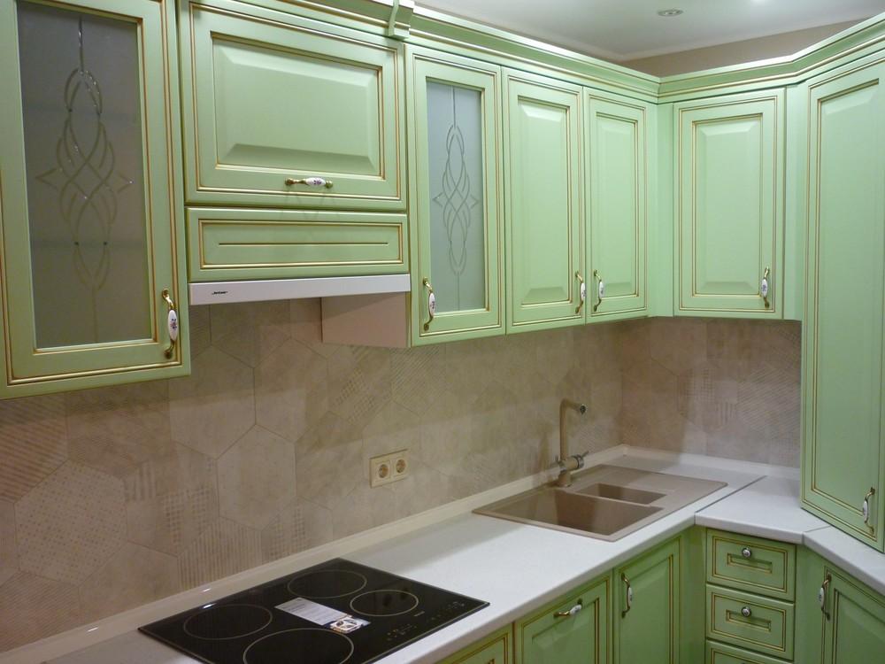 Встроенная кухня-Кухня МДФ в ПВХ «Модель 326»-фото5