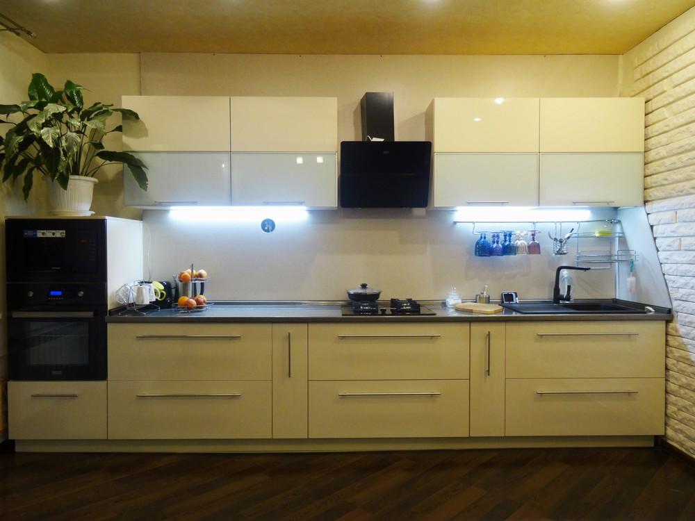 Акриловые кухни-Кухня из пластика «Модель 295»-фото1