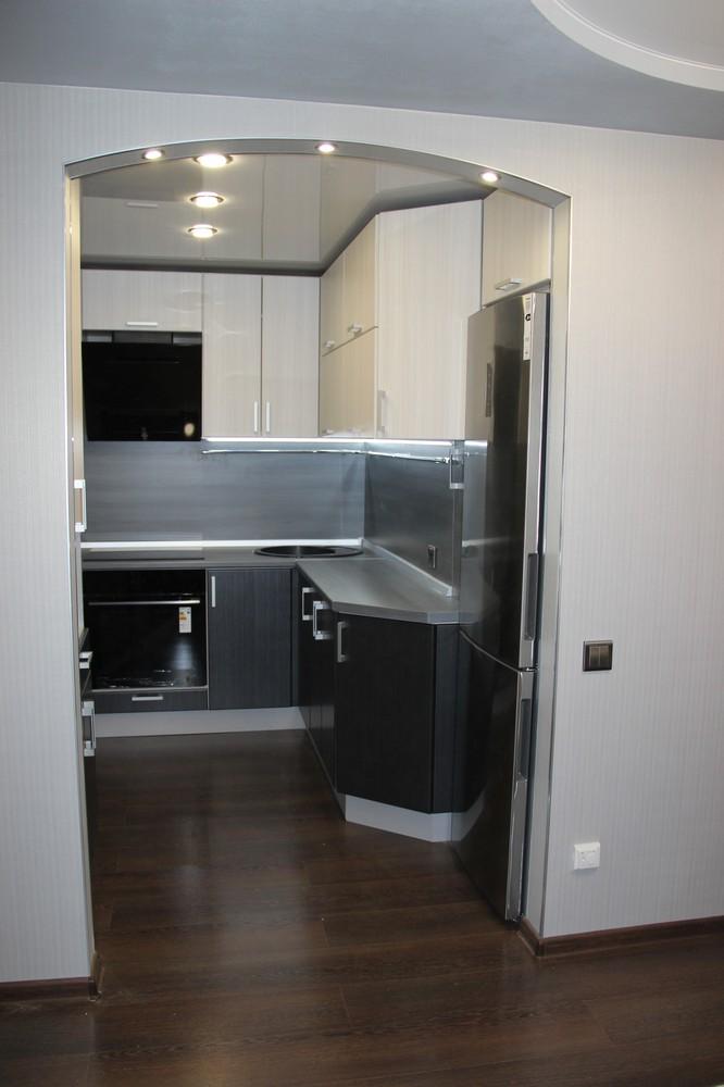 Встроенная кухня-Кухня МДФ в ПВХ «Модель 92»-фото2