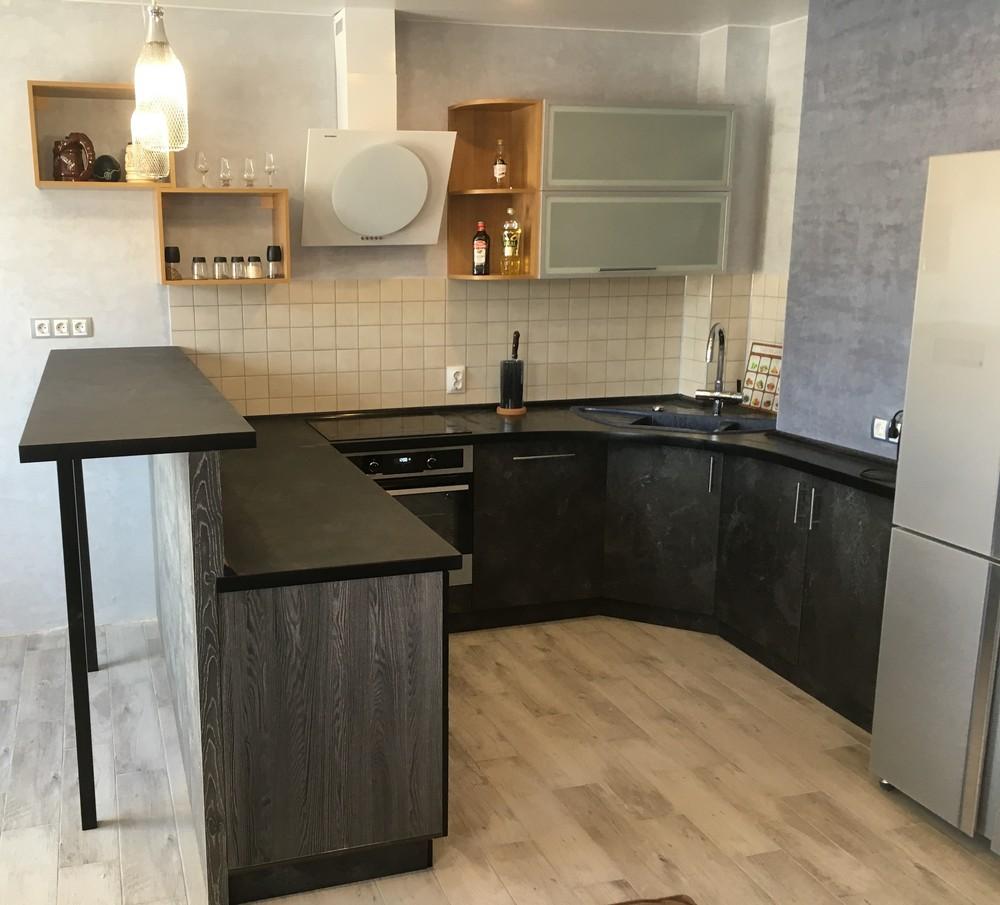 Встроенная кухня-Кухня МДФ в ПВХ «Модель 316»-фото2