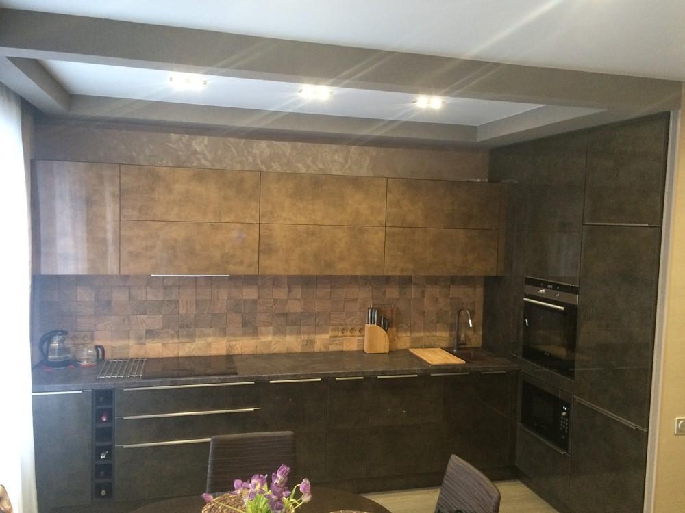 Акриловые кухни-Кухня из пластика «Модель 113»-фото5