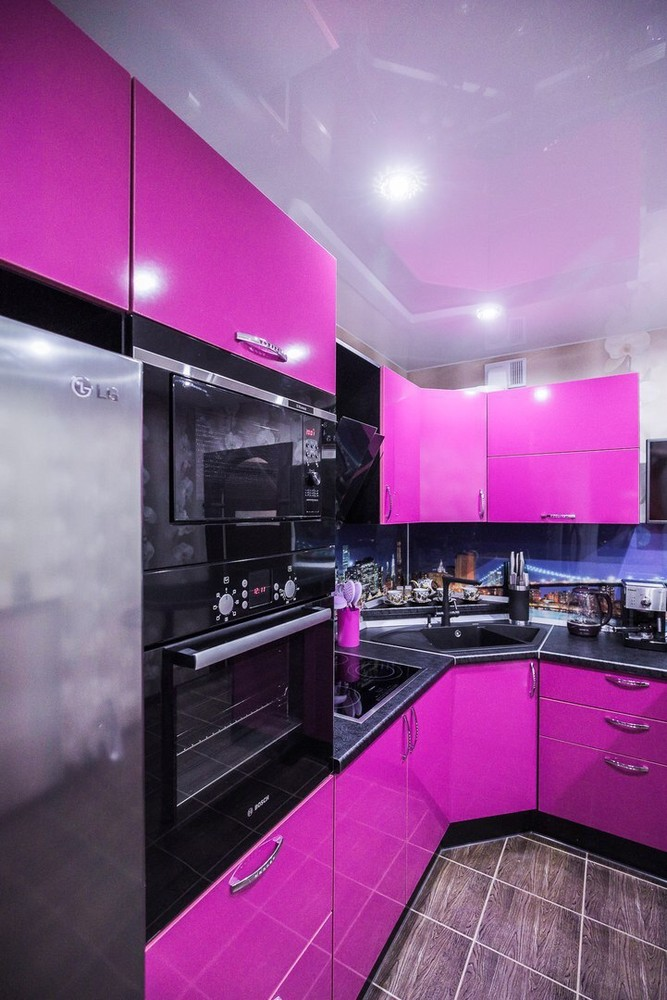 Акриловые кухни-Кухня МДФ в эмали «Модель 115»-фото4