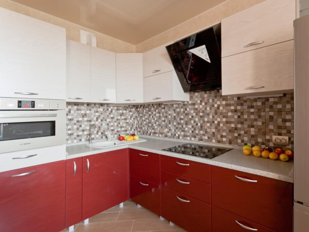 Встроенная кухня-Кухня МДФ в ПВХ «Модель 259»-фото1