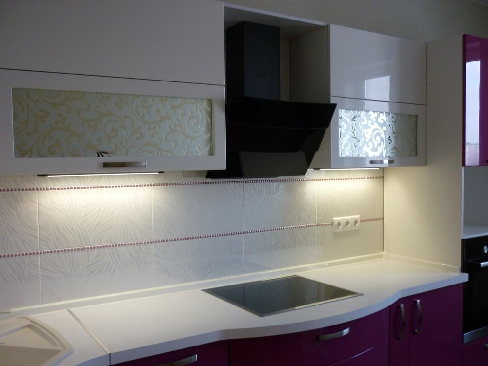Встроенная кухня-Кухня МДФ в эмали «Модель 237»-фото3
