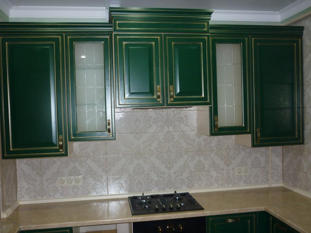 Встроенная кухня-Кухня МДФ в эмали «Модель 214»-фото1