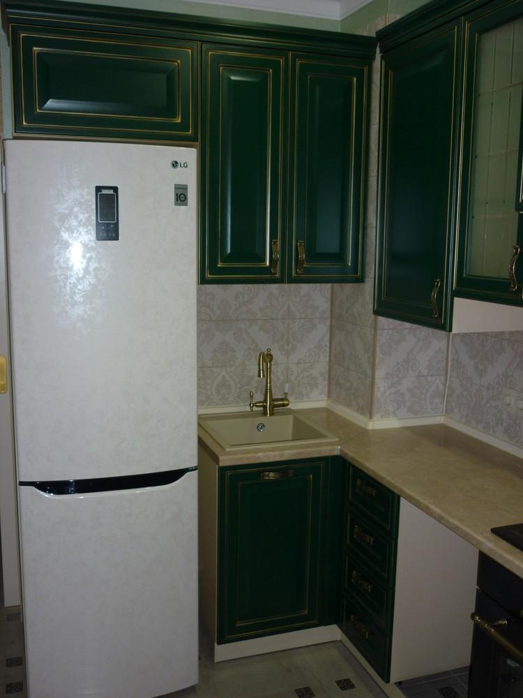 Встроенная кухня-Кухня МДФ в эмали «Модель 214»-фото2