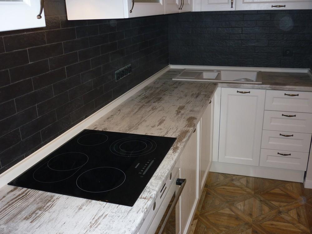 Белый кухонный гарнитур-Кухня из массива «Модель 218»-фото6