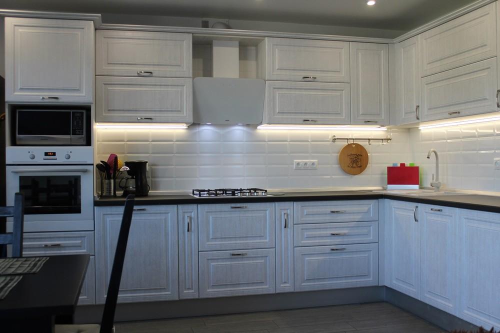 Белый кухонный гарнитур-Кухня МДФ в ПВХ «Модель 231»-фото6