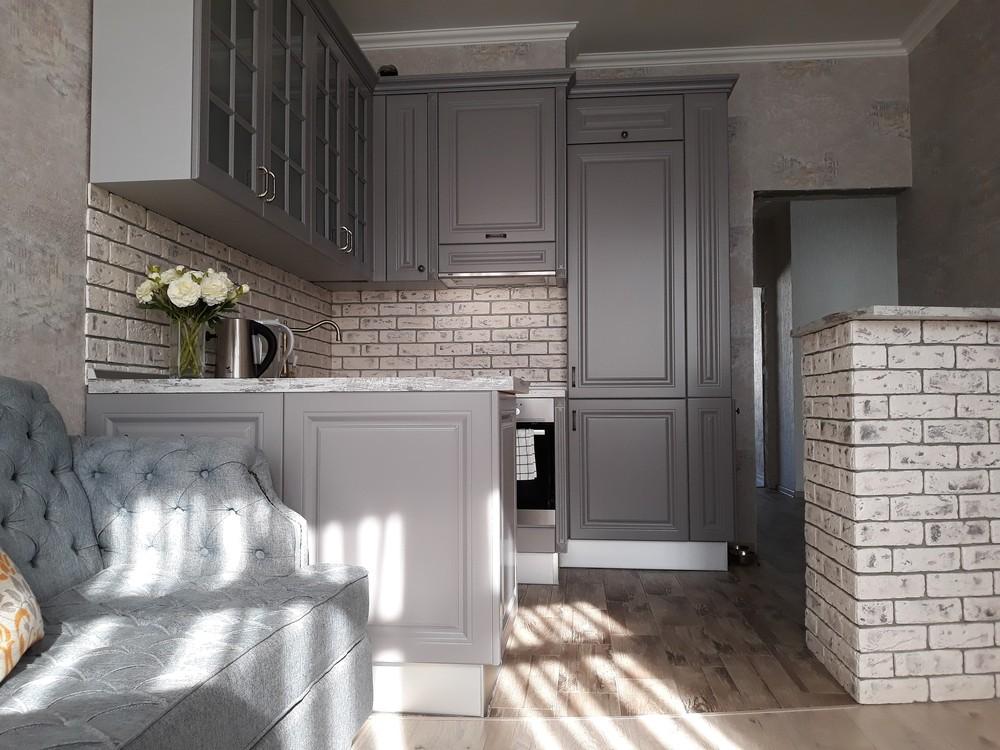 Встроенная кухня-Кухня МДФ в эмали «Модель 281»-фото9