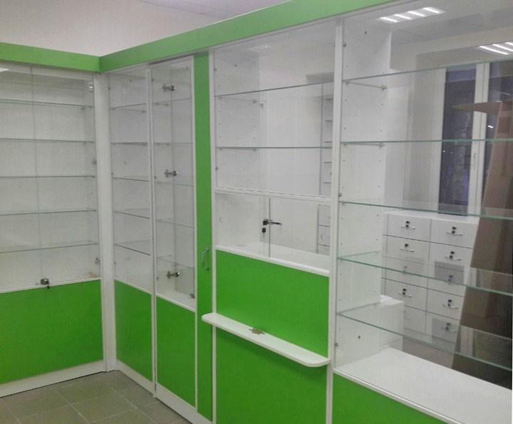 Торговая мебель-Мебель для аптеки «Модель 189»-фото1