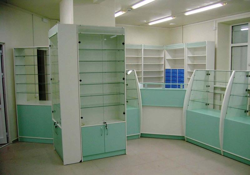 Торговая мебель-Мебель для аптеки «Модель 194»-фото1