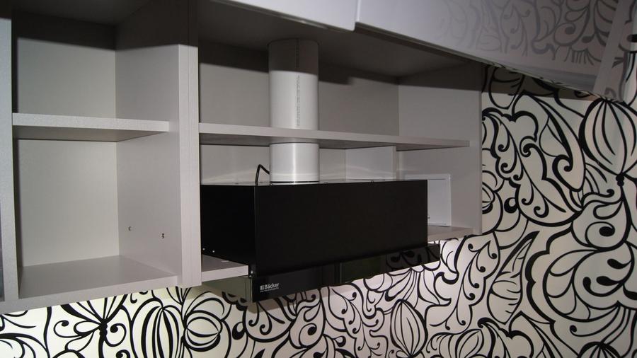 Глянцевые кухни-Кухня МДФ в эмали «Модель 285»-фото8