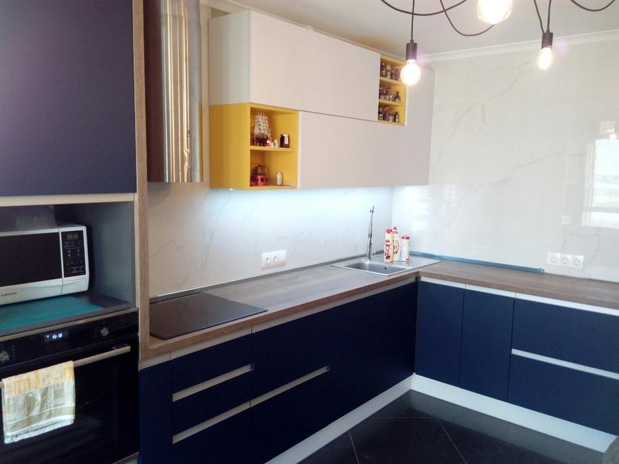 Встроенная кухня-Кухня из пластика «Модель 336»-фото3
