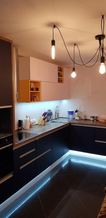 Встроенная кухня-Кухня из пластика «Модель 336»-фото1
