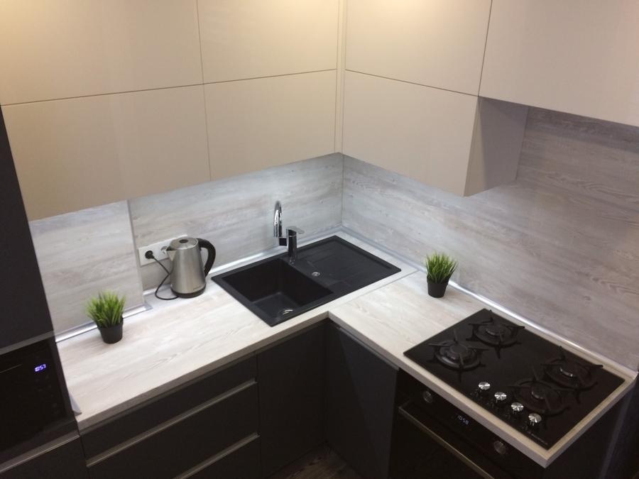 Акриловые кухни-Кухня из пластика «Модель 368»-фото7