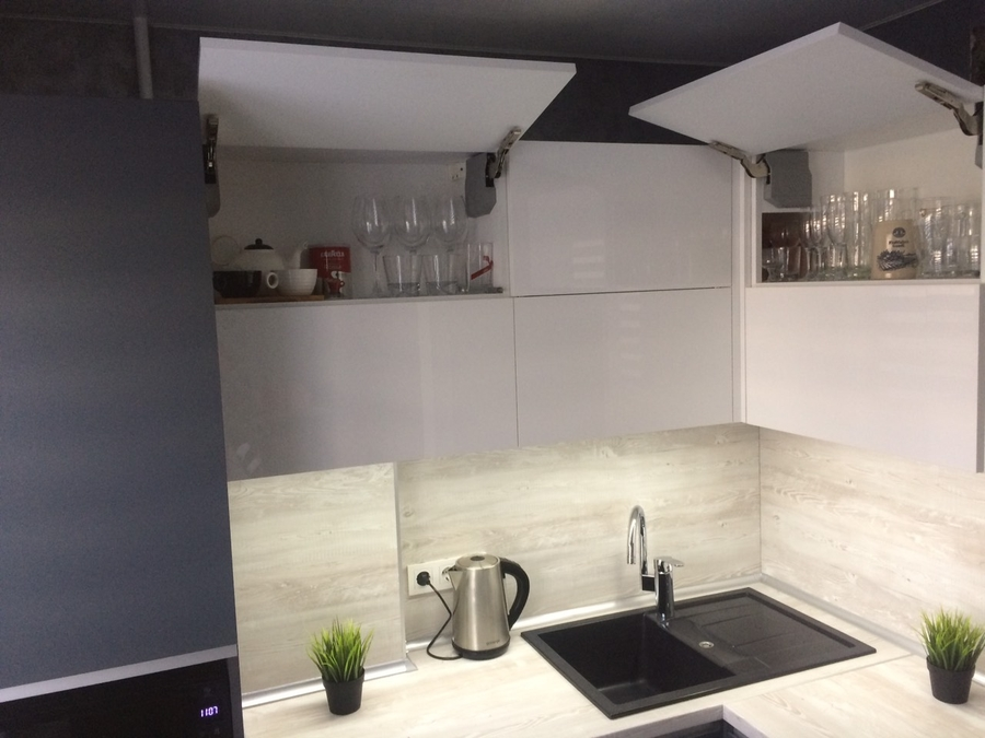 Акриловые кухни-Кухня из пластика «Модель 368»-фото8