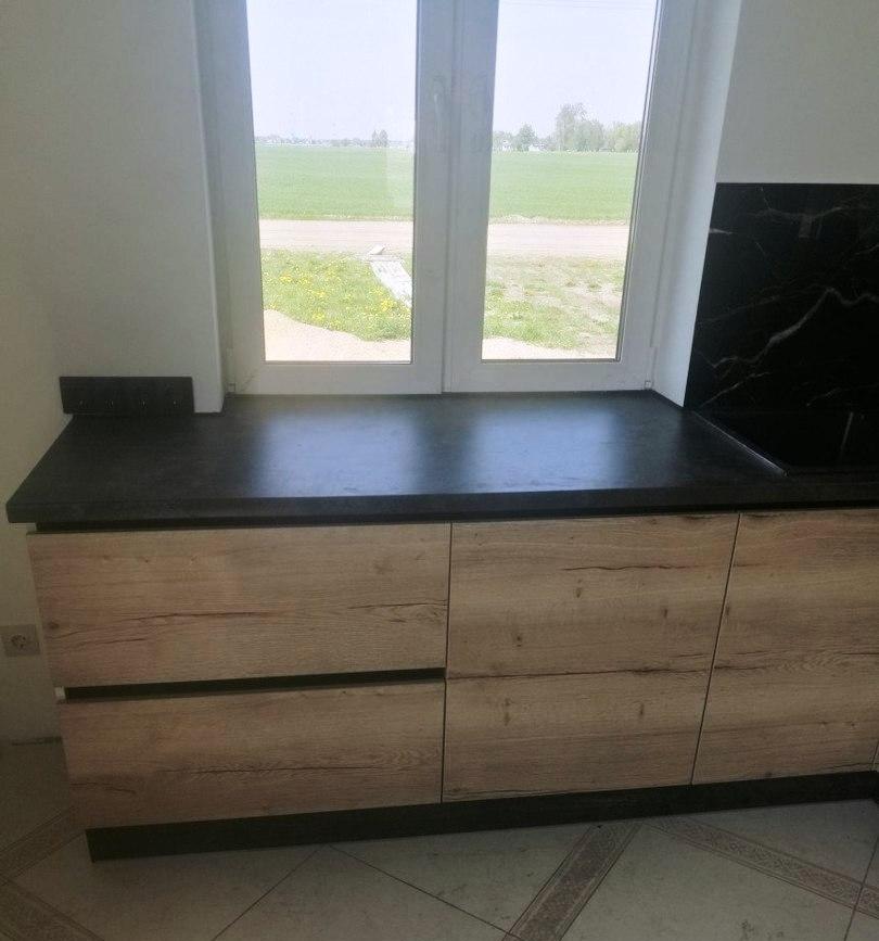 Белый кухонный гарнитур-Кухня из акрила «Модель 386»-фото4