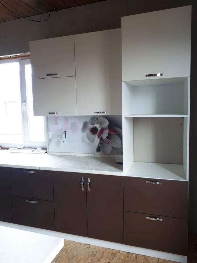 Белый кухонный гарнитур-Кухня из пластика «Модель 392»-фото2