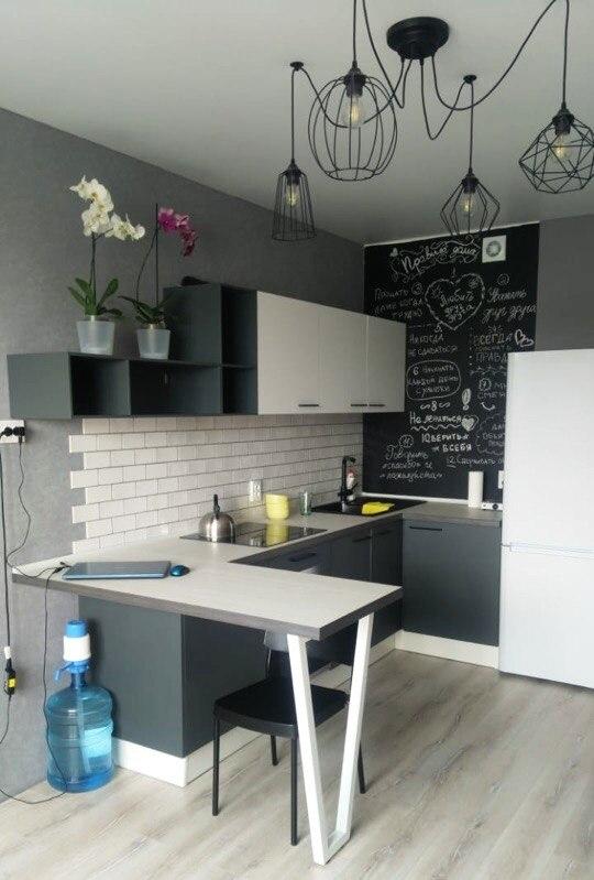 Белый кухонный гарнитур-Кухня из пластика «Модель 381»-фото2