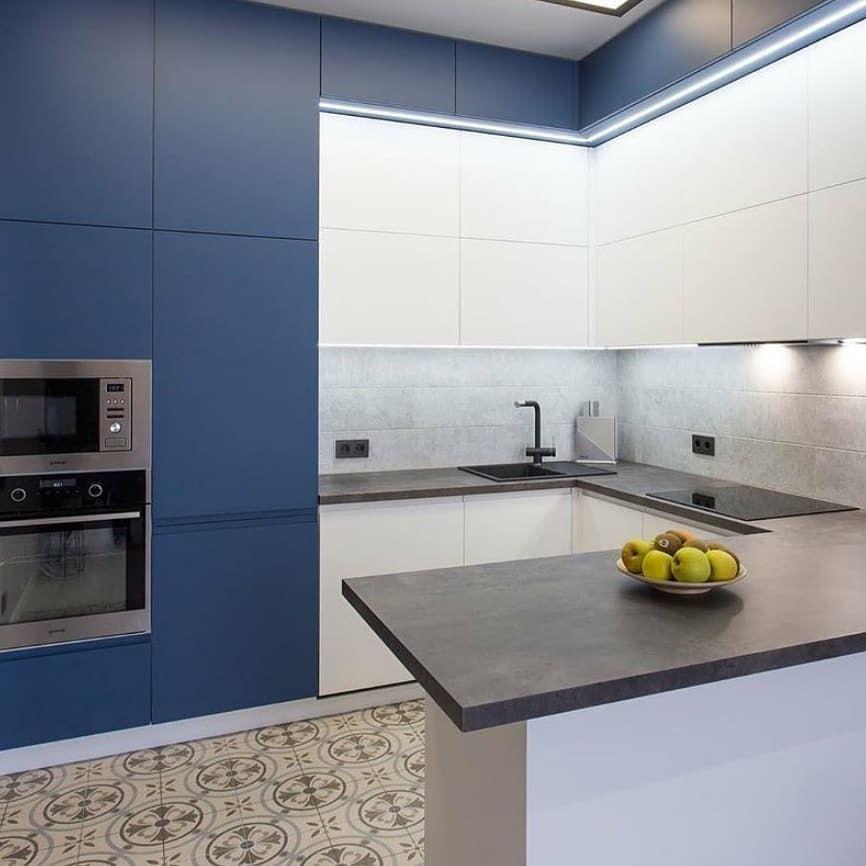 Белый кухонный гарнитур-Кухня МДФ в эмали «Модель 678»-фото3