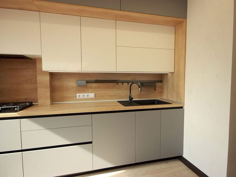 Встроенная кухня-Кухня МДФ в эмали «Модель 662»-фото5