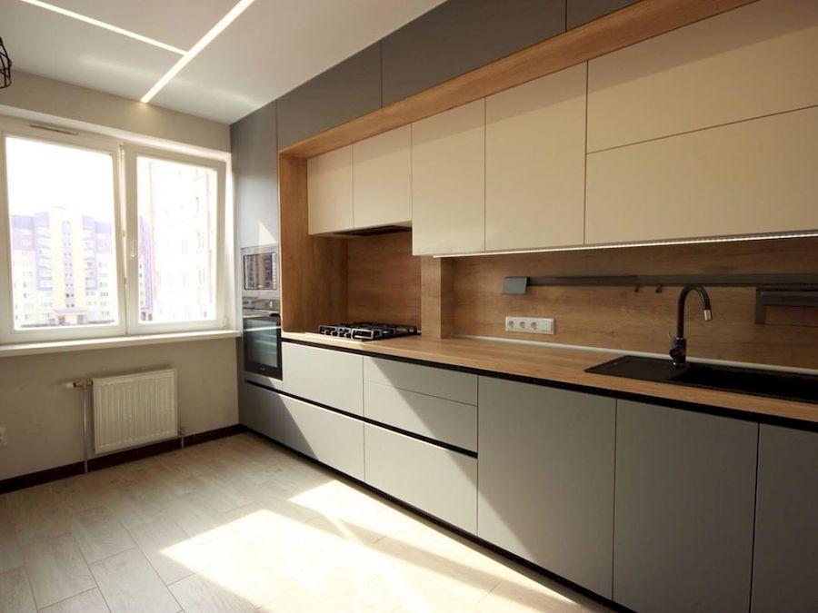 Встроенная кухня-Кухня МДФ в эмали «Модель 662»-фото1