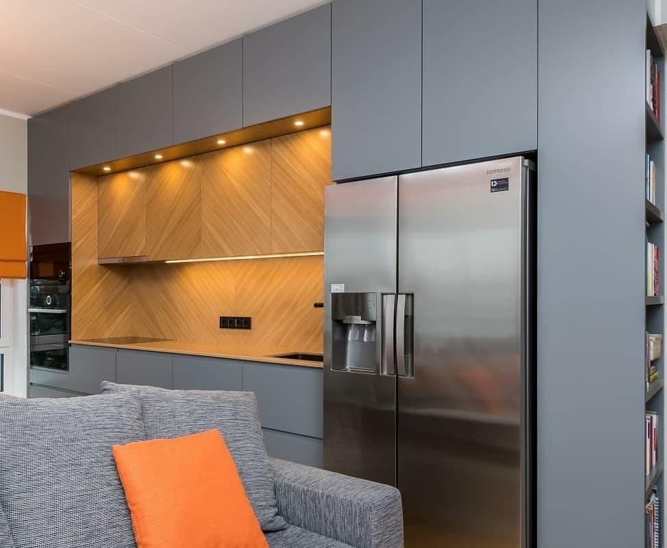 Встроенная кухня-Кухня МДФ в эмали «Модель 628»-фото4