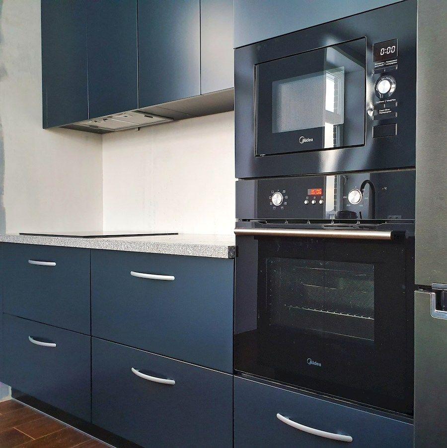 Дорогие и элитные кухни-Кухня МДФ в эмали «Модель 557»-фото3