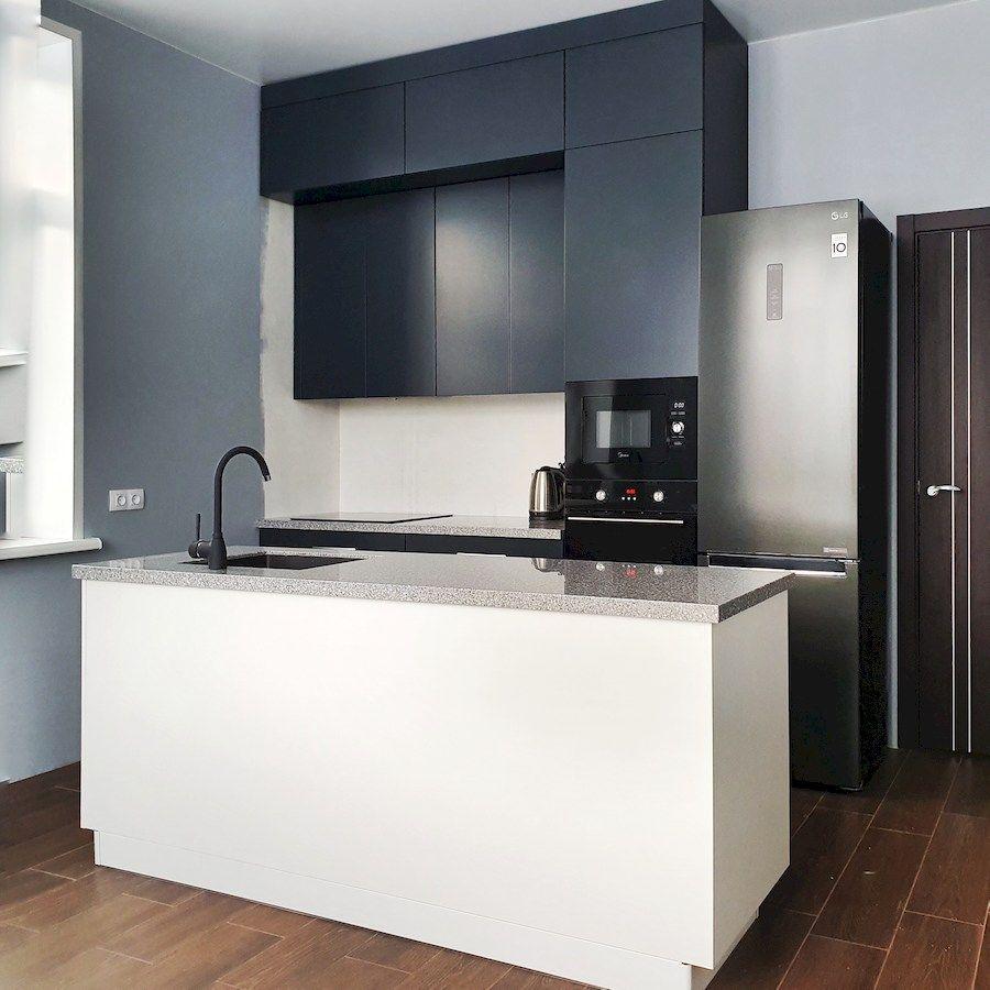 Дорогие и элитные кухни-Кухня МДФ в эмали «Модель 557»-фото2