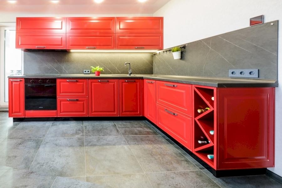 Классические кухни-Кухня МДФ в эмали «Модель 600»-фото1