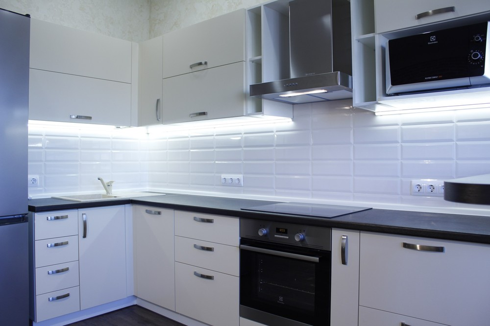 Акриловые кухни-Кухня из пластика «Модель 201»-фото2
