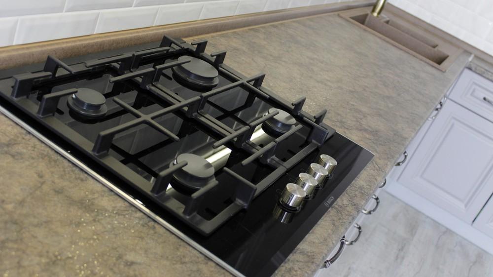 Белый кухонный гарнитур-Кухня МДФ в ПВХ «Модель 183»-фото5