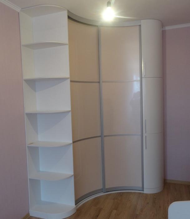 Белые шкафы-купе-Угловой шкаф-купе «Модель 89»-фото1