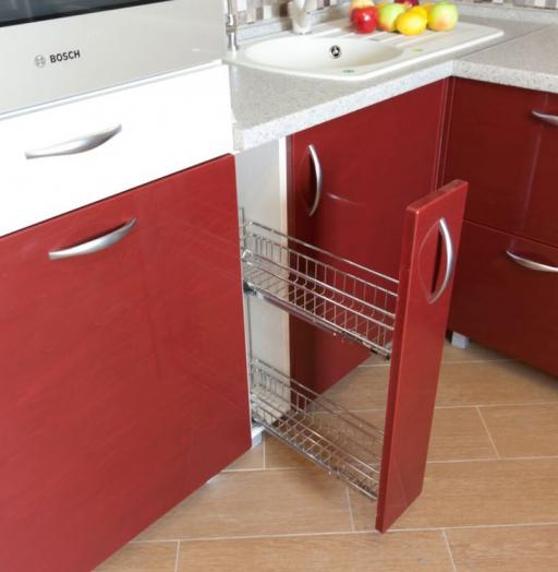 Встроенная кухня-Кухня МДФ в ПВХ «Модель 259»-фото4