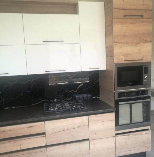 Белый кухонный гарнитур-Кухня из акрила «Модель 386»-фото5