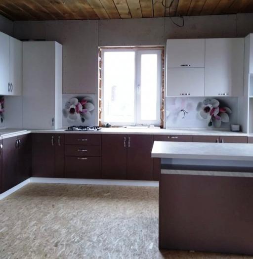 Белый кухонный гарнитур-Кухня из пластика «Модель 392»-фото4