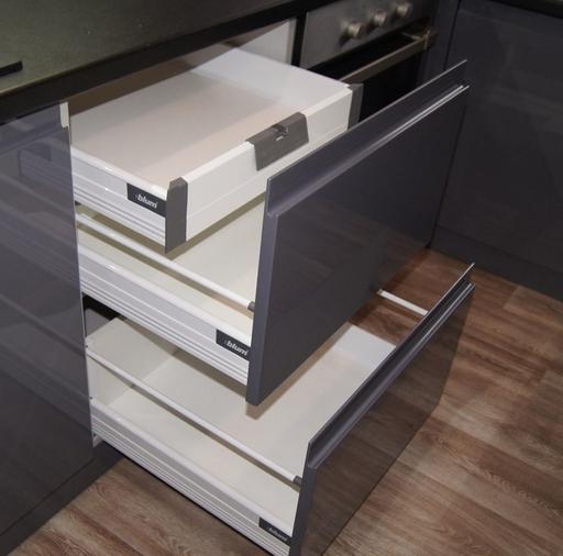 Глянцевые кухни-Кухня МДФ в эмали «Модель 285»-фото9