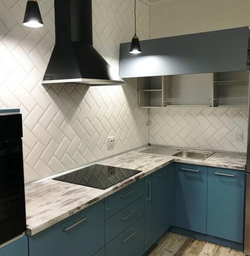 -Кухня из пластика «Модель 373»-фото3