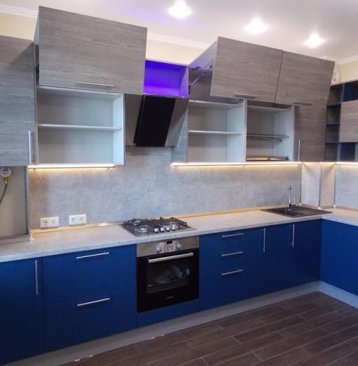 -Кухня МДФ в эмали «Модель 15»-фото17