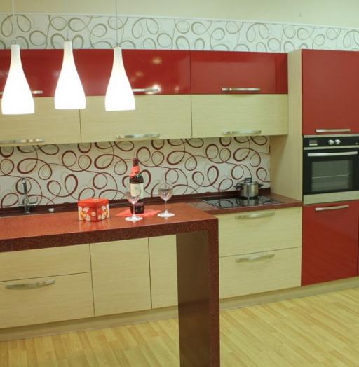 -Кухня из пластика «Модель 129»-фото21