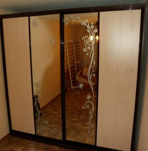 Большой шкаф-купе-Шкаф-купе с зеркалом «Модель 148»-фото3