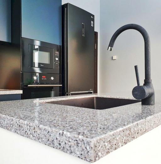 Дорогие и элитные кухни-Кухня МДФ в эмали «Модель 557»-фото6