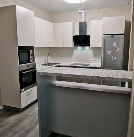 Белый кухонный гарнитур-Кухня МДФ в ПВХ «Модель 580»-фото7