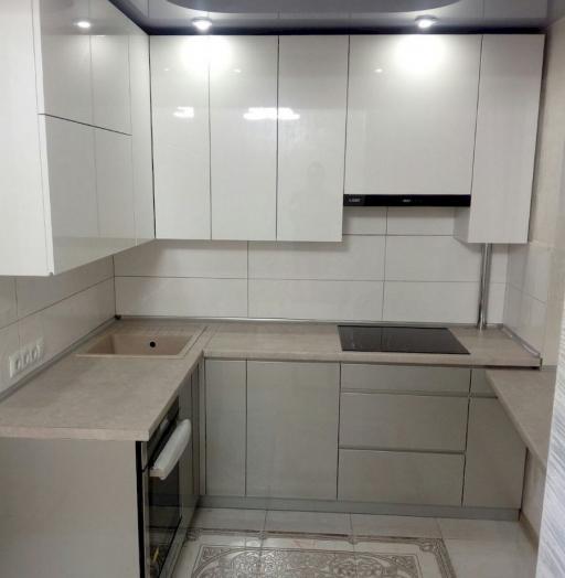 Белый кухонный гарнитур-Кухня МДФ в ПВХ «Модель 657»-фото6